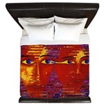 Conundrum III Orange Goddess King Duvet