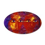 Conundrum III Orange Goddess 20x12 Oval Wall Decal