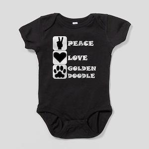 Peace Love Goldendoodle Baby Bodysuit