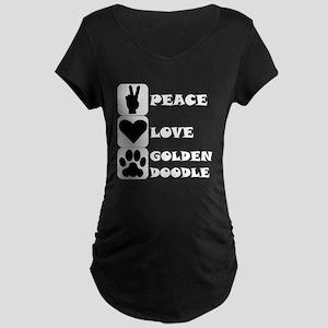 Peace Love Goldendoodle Maternity T-Shirt