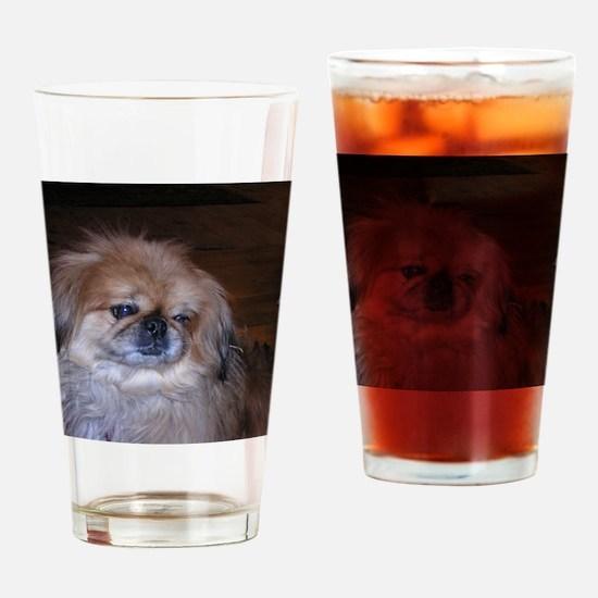 Pekinese Drinking Glass