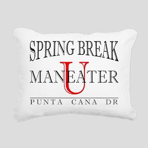Maneater University Spri Rectangular Canvas Pillow