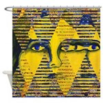Conundrum II Golden Goddess Shower Curtain