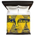 Conundrum II Golden Goddess King Duvet