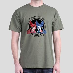 Tired Cattle Dog Dark T-Shirt
