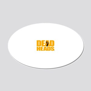 DeadHeads Stacked 20x12 Oval Wall Decal