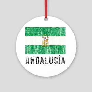 andalucia_fl3 Round Ornament
