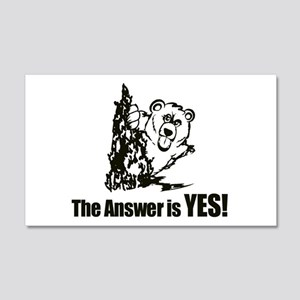 The Answer is Yes Wall Decal