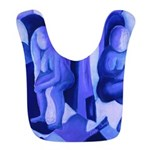 Reflections Blue II Abstract Azure Angels Bib