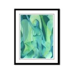 Reflections in Blue III Angels Framed Panel Print