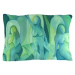 Reflections in Blue III Cyan Angels Pillow Case