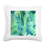 Reflections in Blue III Square Canvas Pillow