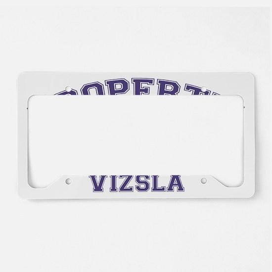 vizslaproperty License Plate Holder