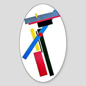 Kazimir Malevich: Suprematism Const Sticker (Oval)