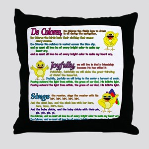 decolores song Throw Pillow