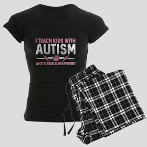 I Teach Kids With Autism Women's Dark Pajamas