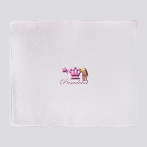 Pasadena Pink Kneeling Angel Throw Blanket