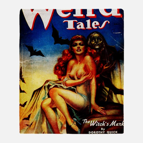 Weird Tales Jan Throw Blanket