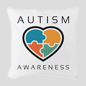 Autism Awareness Woven Throw Pillow