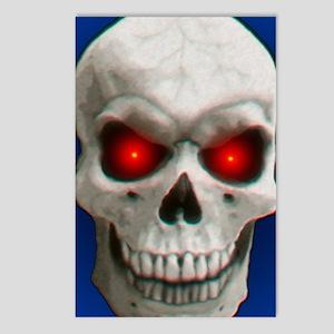 Cracked Skull Blue Postcards (Package of 8)
