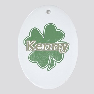 """Shamrock - Kenny"" Oval Ornament"