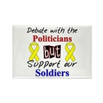 Debate Politicians Support our Soldiers Rectangle