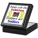 Debate Politicians Support our Soldiers Tile Box