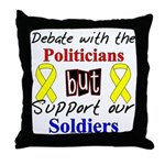 Debate Politicians Support our Soldiers Throw Pill