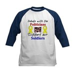 Debate Politicians Support our Soldiers Kids Baseb