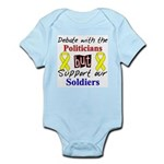 Debate Politicians Support our Soldiers Infant Bod