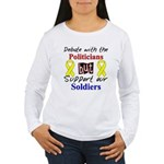 Debate Politicians Support our Soldiers Women's Lo