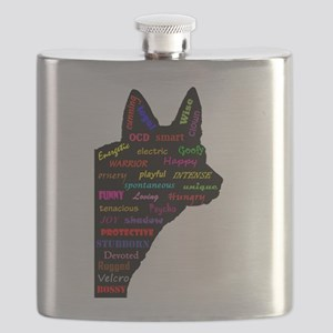 Blue Heeler Tribute Flask