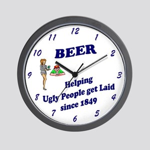 BEER Helping Ugly People get Laid since 1849 Clock