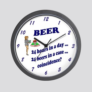 BEER 24 hours in a day; 24 beers in a case...Clock
