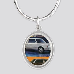 k car tshirt Silver Oval Necklace