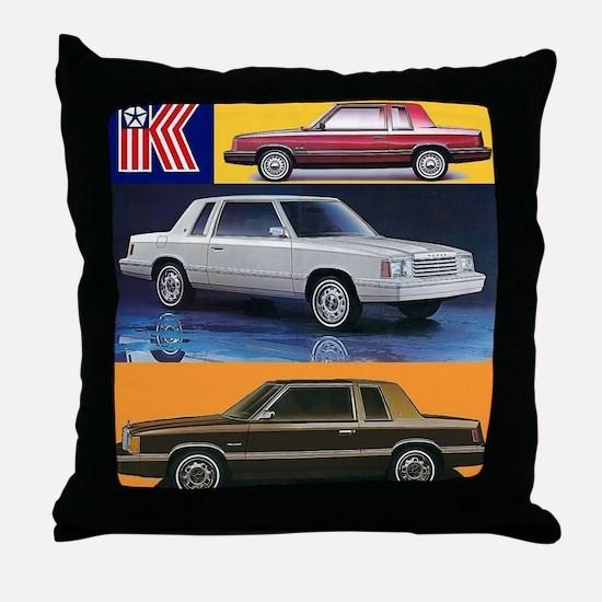 k car tshirt Throw Pillow