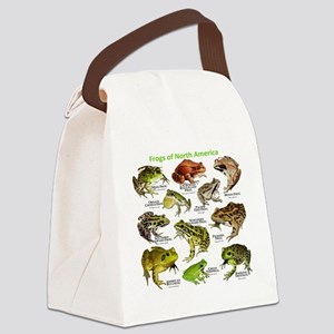 Frogs of North America Canvas Lunch Bag