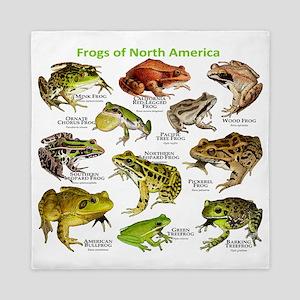 Frogs of North America Queen Duvet