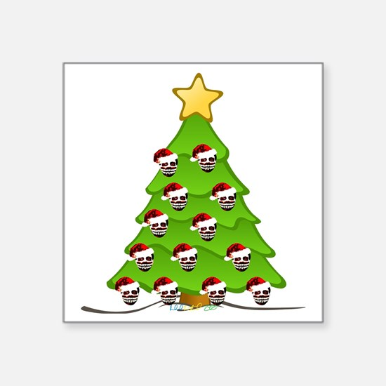 "Monster Christmas Tree Square Sticker 3"" x 3"""
