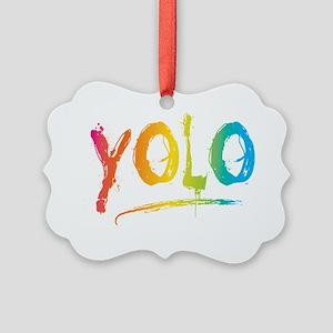 YOLO Bright Picture Ornament