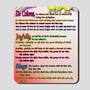 Cursillo DeColores Song Poster Mousepad