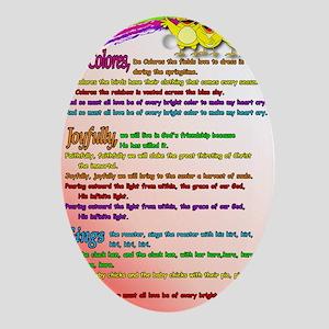Cursillo DeColores Song Poster Oval Ornament