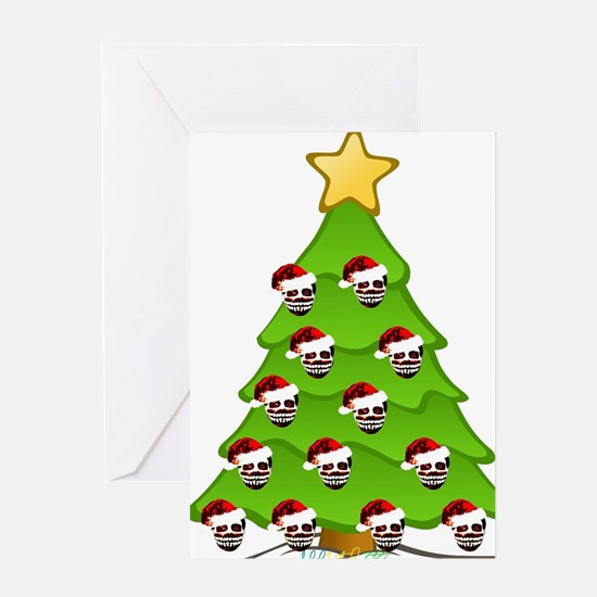 Monster Christmas Tree Greeting Card