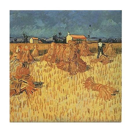 Van Gogh Ceramic Art Tile Harvest in Provence