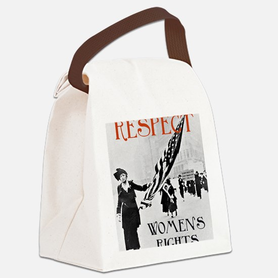 Respect Womens Rights2 Canvas Lunch Bag
