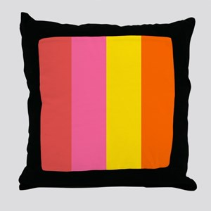 Big Stripe Hot Throw Pillow