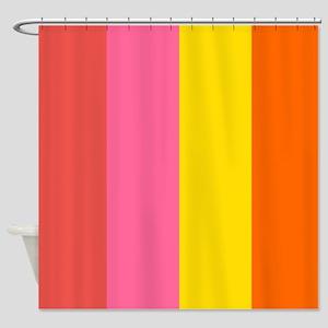 Big Stripe Hot Shower Curtain