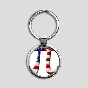American Pi Round Keychain