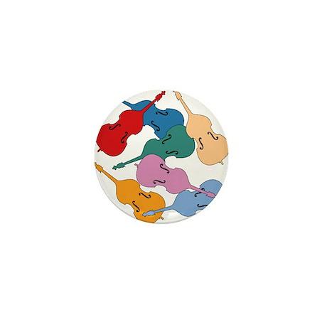 Colorful Double Basses - Mini Button