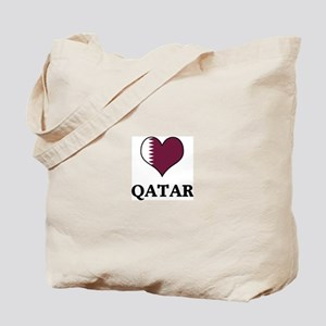 Qatar heart Tote Bag